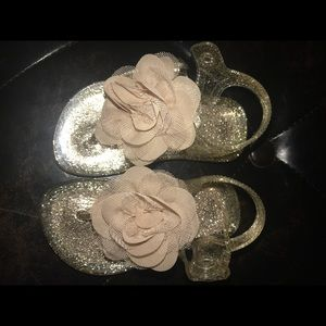 Other - Size 4 jelly floral sandals Brand New!